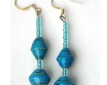 Valentine Gift Idea, Dangle Earrings, Drop Earrings, Blue Earring's, Gift Earring, Handcrafted Earrings, Art Deco Earrings, Gift for Her
