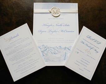 Wedding Invitation Suite   Custom Invitation Suite   Wedding Invites   Wedding Invitations   Custom Invitations   Watercolor Invitations