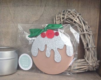 Christmas Pudding Bauble by Duck Duck Goose