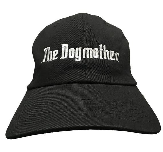 The Dogmother (Polo Style Ball Cap - Black with White Stitching)