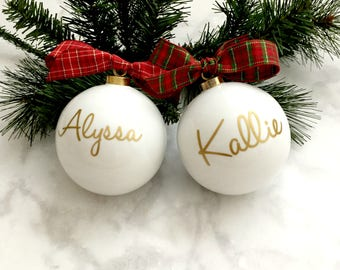 Personalized Christmas Ornament, Bridesmaids Ornaments