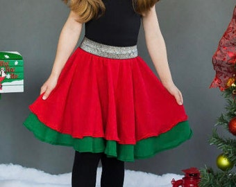 Christmas skirt - red green!