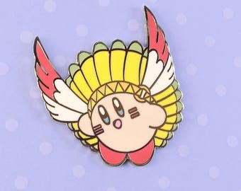 Feather Kirby Hard Enamel Pin