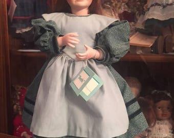 """Ashton Drake Porcelain Doll """"Beth"""" 96253 HT from the Little Women Collection"""