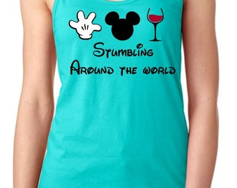 Stumbling Around The World - Epcot Food and Wine Festival Tank Top