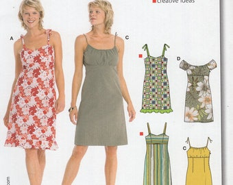 FREE US SHIP Burda 8071 Summer Slip Peasant Dress Uncut Sewing Pattern plus size Size 8 10 12 14 16 18 20 Bust 31 32 34 36 38 40 42 New