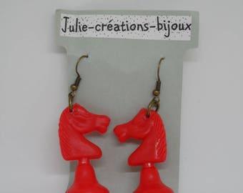 Red Horse earrings