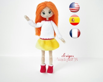 Pattern - (JUST CLOTHES) Doll Alex, amigurumi crochet doll, crochet doll pattern, amugurumi pattern, pdf pattern