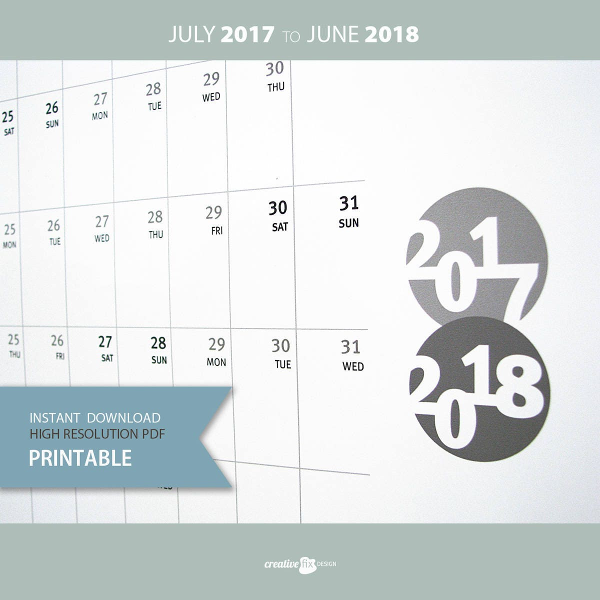 Mid Year Calendar : Calendar mid year planner business new