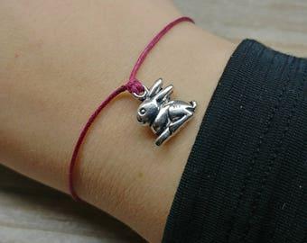 Rabbit Bracelet, Bunny Bracelet, Easter Bracelet, Kids Easter Gift, Woodland Bracelet, Bunny Jewelry, Rabbit Jewelry, Lucky Rabbit Gift