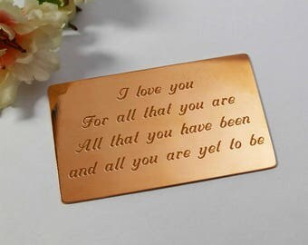 Groom wallet insert card,groom wedding gift,custom groom gift,engraved gift for groom,wedding day gift,unique gift for groom,bride to groom