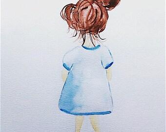 Little dreamer nursery Print print girls blue