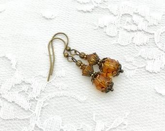 Bridesmaid Earrings, Victorian Style Earrings, Bridal Party Gift, Birthstone Earrings
