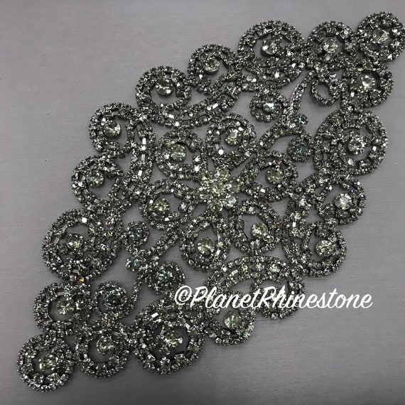 Black Rhinestone Applique #A-04