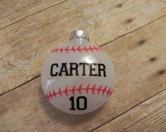 Christmas Ornament. Baseball Ornament. Personalized Baseball Ornament. Softball Ornament. Personalized Softball Ornamet. Sports Gift