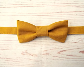 Mustard Bow Tie - Wedding Bow Tie - Boys Bow Tie - Tied Bow Tie - Baby Bow Tie - Mustard Bow Tie - Kids Bow Tie