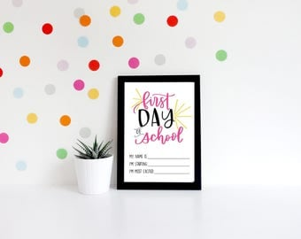 First Day of School Sign | PRINTABLE