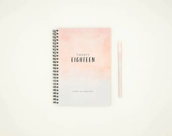 2018 Weekly Planner - 2018 Diary Week to a Page Hardcover (WATERCOLOUR)