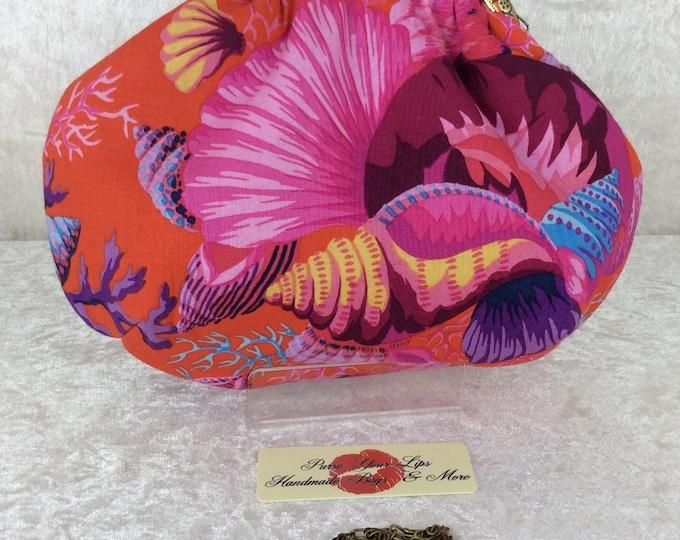 The Shell Bouquet Alice bag clutch purse handbag Phillip Jacobs Kaffe Fassett handmade in England