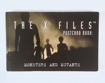X-Files Postcard Book, Monsters and Mutants, Vintage X-Files, 30 Post Cards, Near Mint Condition
