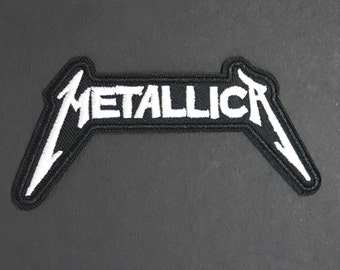 Metallica Iron on diy appliqué patch flair Heavy Metal Thrash Metal