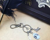 Journey to Hogwarts  Harry Potter inspired bag charm or keyring