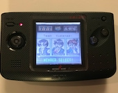 SNK Neo Geo Pocket Color Frontlit-modded black carbon fiber