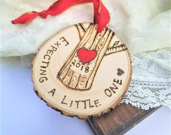 Expecting mother ornament, expecting gift, expecting announcement, pregnancy ornament, pregnant gift, expecting mom gift, wood ornament