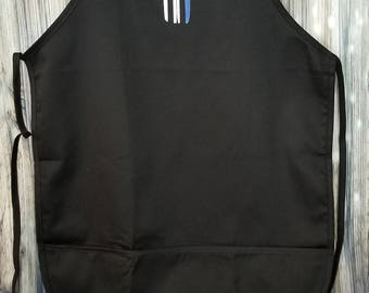 Thin Blue Line Punisher Apron - Back the Blue Apron - Blue Lives Matter Apron - Police Apron - Law Enforcement - American Flag