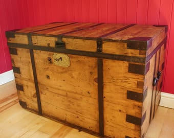 Antique Victorian Campaign Chest by J Gieve & Sons