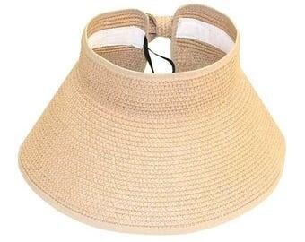 Beige Rollup Visor Hat