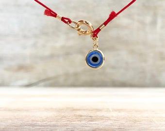 Red String bracelet Evil Eye Bracelet Evil Eye Kabbalah Bracelet Couples Bracelet Protection Amulet Good Luck Valentines Gift for Girlfriend