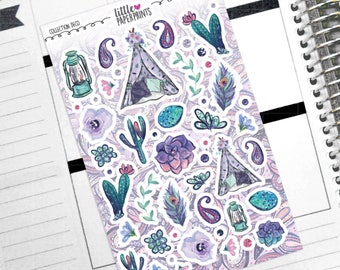 """Collection DECO - """"Gypsy Soul"""" Collection Decorative Stickers - Decorative Planner Stickers"""