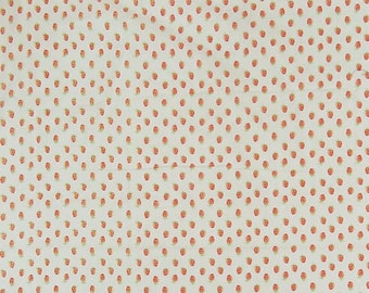 """Strawberry Print, Off White Fabric, Designer Fabric, Dress Material, Indian Fabric, 55"""" Inch Cotton Fabric By The Yard ZBC9148A"""