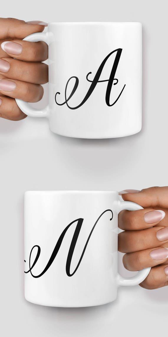 Customized initial mug - Christmas mug - Funny mug - Rude mug - Mug cup 4P079