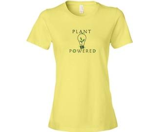 Plant Powered shirt, vegan shirt, vegan clothing, eco shirt, eco clothing, plant shirt, vegetarian shirt, vegan apparel