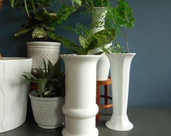 West German pottery vase ceramic vase centerpiece mid century modern white pottery ceramic pottery vintage pottery and ceramics white vase