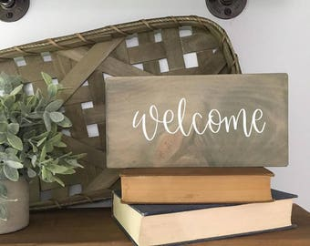 Welcome - Wood Sign