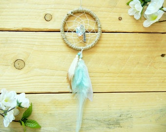 Protected Car Dreamcatcher: Rearview Mirror Accessory, Boho Dreamcatcher, Car Accessory, Small Dreamcatcher, Car Mirror Decor, Car Decor
