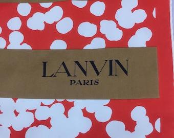 Lanvin Paris Silk Scarf
