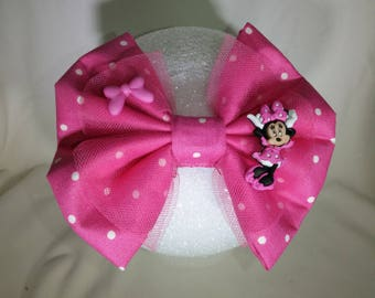 Minnie Mouse hair bow/Disney inspired