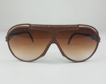 Faux Leather 70's Aviators