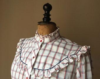 Vintage shirt/vintage cowboy style shirt.