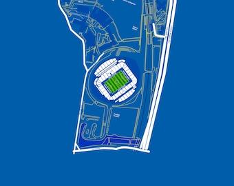 Brighton & Hove Albion FC - The Amex Stadium. Art Print