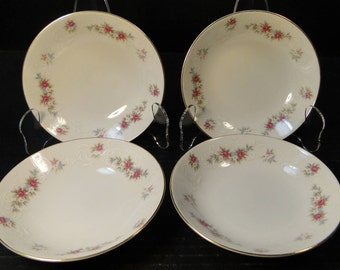 "FOUR MT Hira Rose Wreath Berry Fruit Bowls 5 1/2"" 6121 Set of 4 EXCELLENT!"