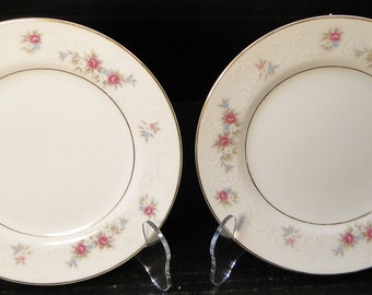 "TWO MT Hira Rose Wreath Bread Plates 6 3/8"" 6121 Set of 2 EXCELLENT!"