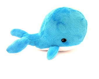 Whale. Plush whale toy. Handmade stuffed Whale. Cuddly Whale. Exclusively Handmade