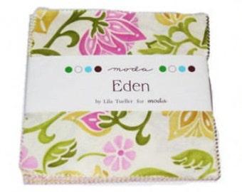 Eden by Lila Tueller for Moda- mini charm pack- OOP- HTF