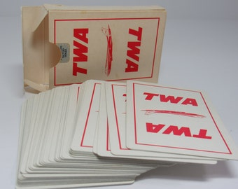 Vintage TWA Airline Playing Cards, Vintage Playing Cards