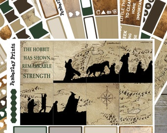 Fellowship // Deluxe 8 Page Lord of the Rings/Hobbit Inspired Weekly Planner Sticker Kit Perfect for Erin Condren Or Happy Planners // FK01